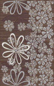 inserto Euforia flower 3 brown 25 x 40 WD137-039
