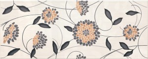 inserto Synthia flower black 20 x 50 WD206-008